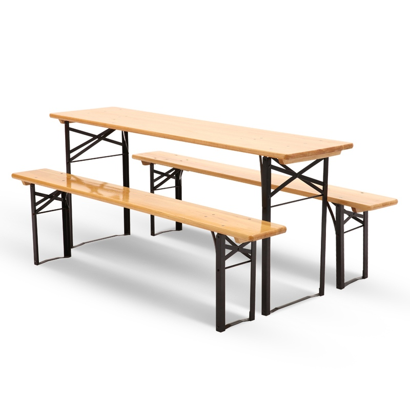 folding foldable hire wooden city furniture bench