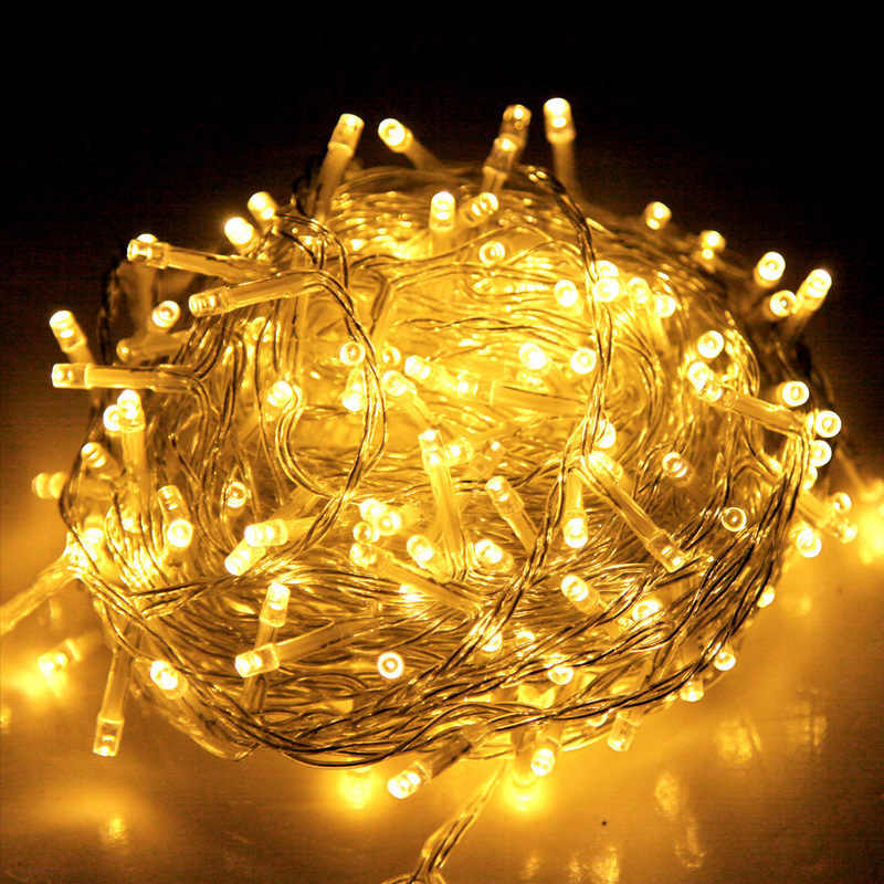 500 LED Christmas String Lights in Warm Yellow 50m Buy Fairy & Christmas Lights