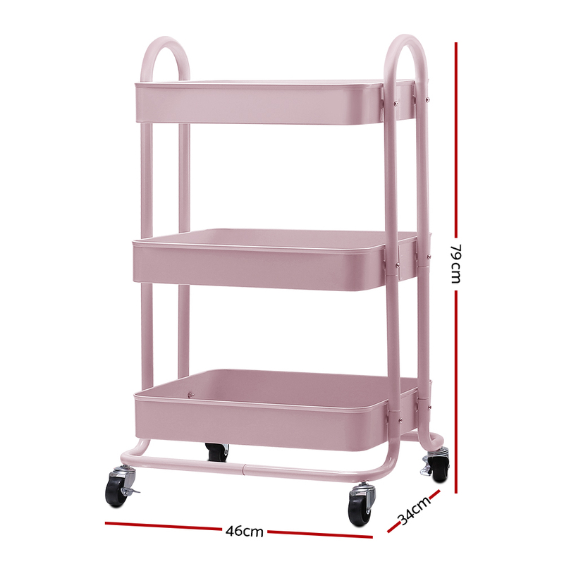 Small Movable Kitchen Island For Sale Thinc Technology: Artiss 3 Tier Rolling Storage Cart Portable Kitchen