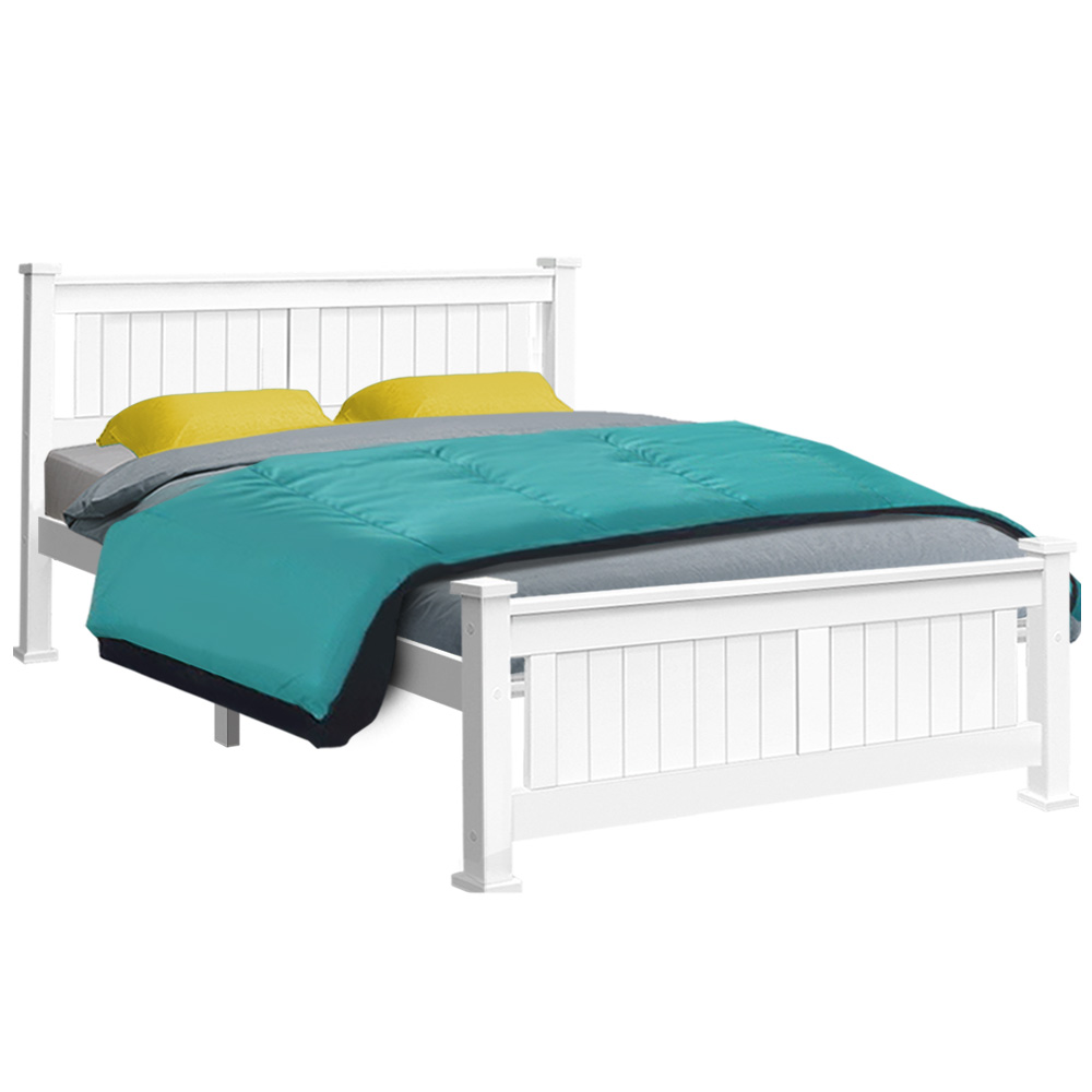 Artiss Double Size Wooden Bed Frame Timber Kids Adults