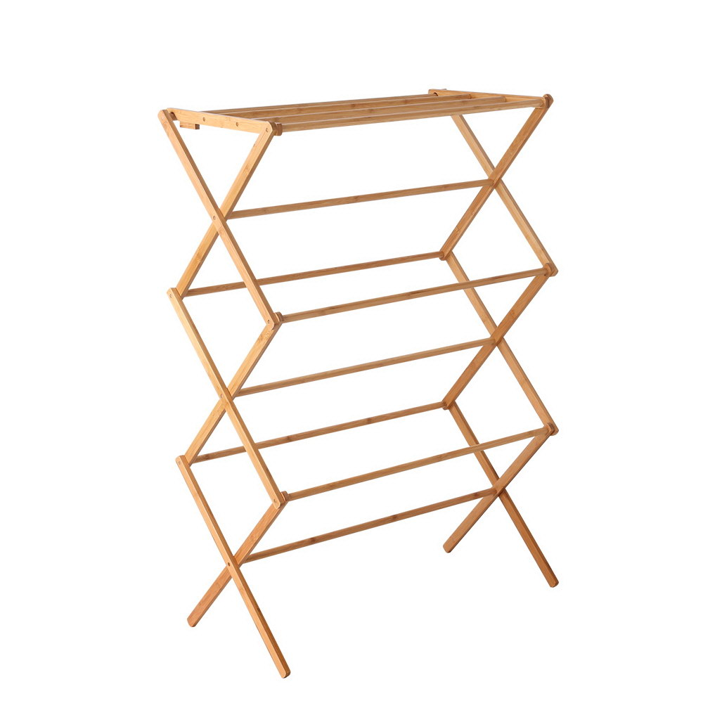 0900592db h m s Remaining. Artiss Folding Bamboo Clothes Dry Rack Towel Hanger  Laundry Drying Wooden