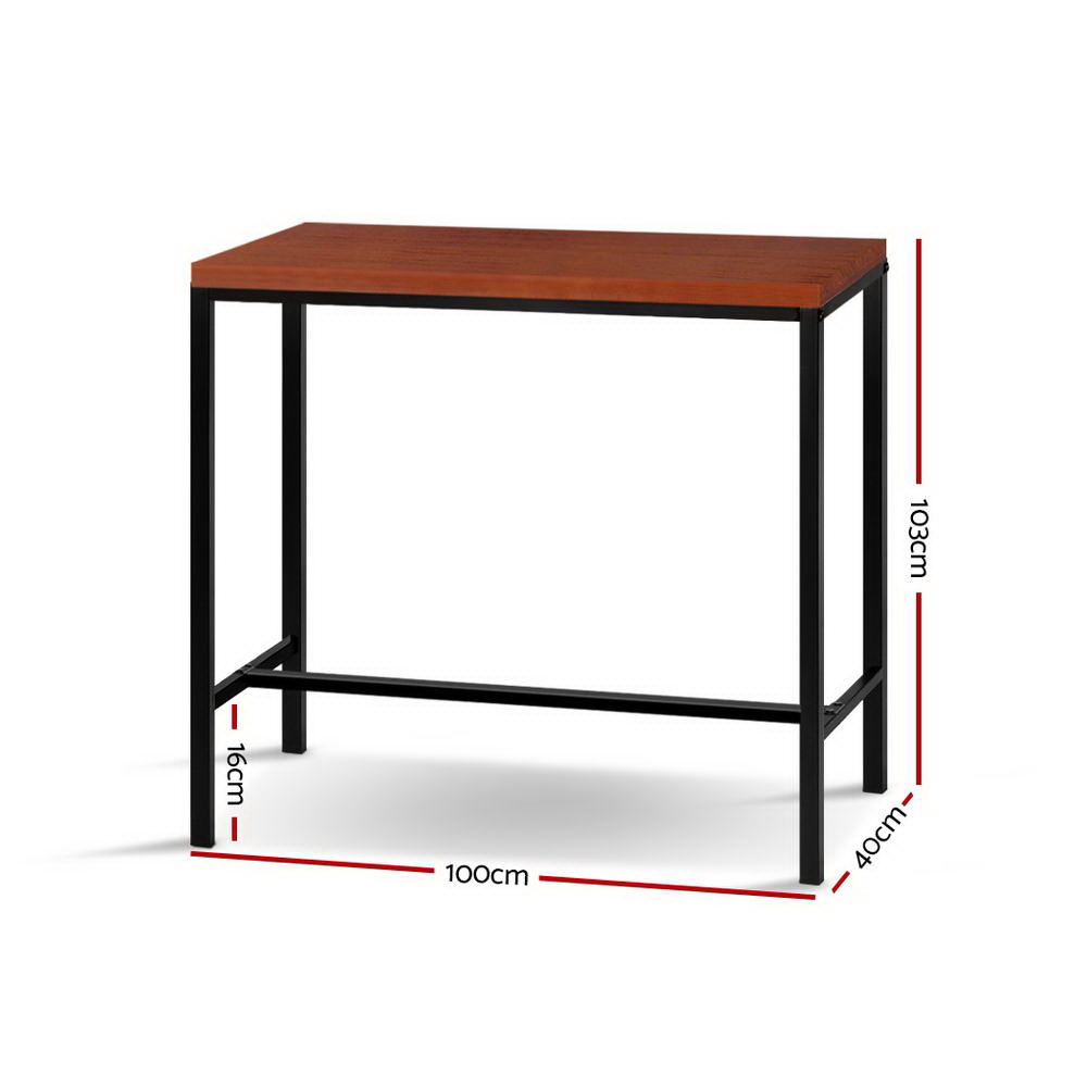 Industrial High Top Table: Artiss Vintage Industrial High Bar Table For Stool Kitchen