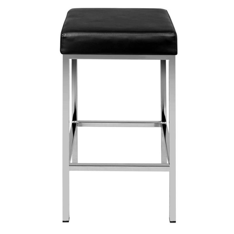 Artiss Set Of 2 Pu Leather Backless Bar Stools Black