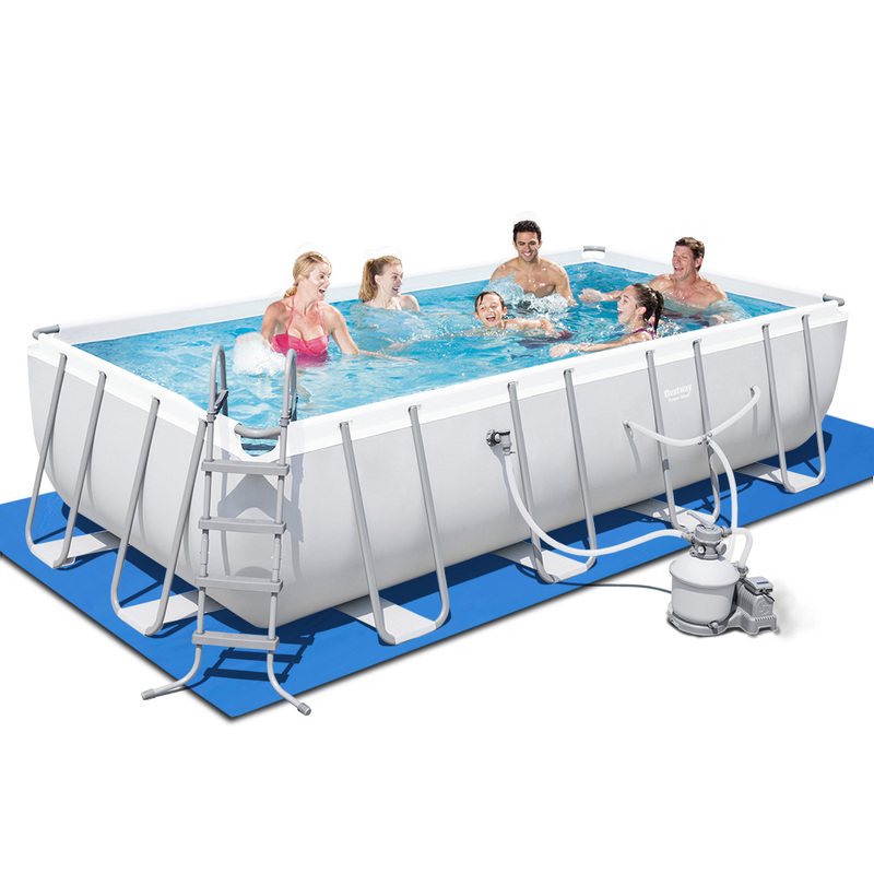Bestway round frame power steel above ground swimming pool - Bestway steel frame swimming pool ...