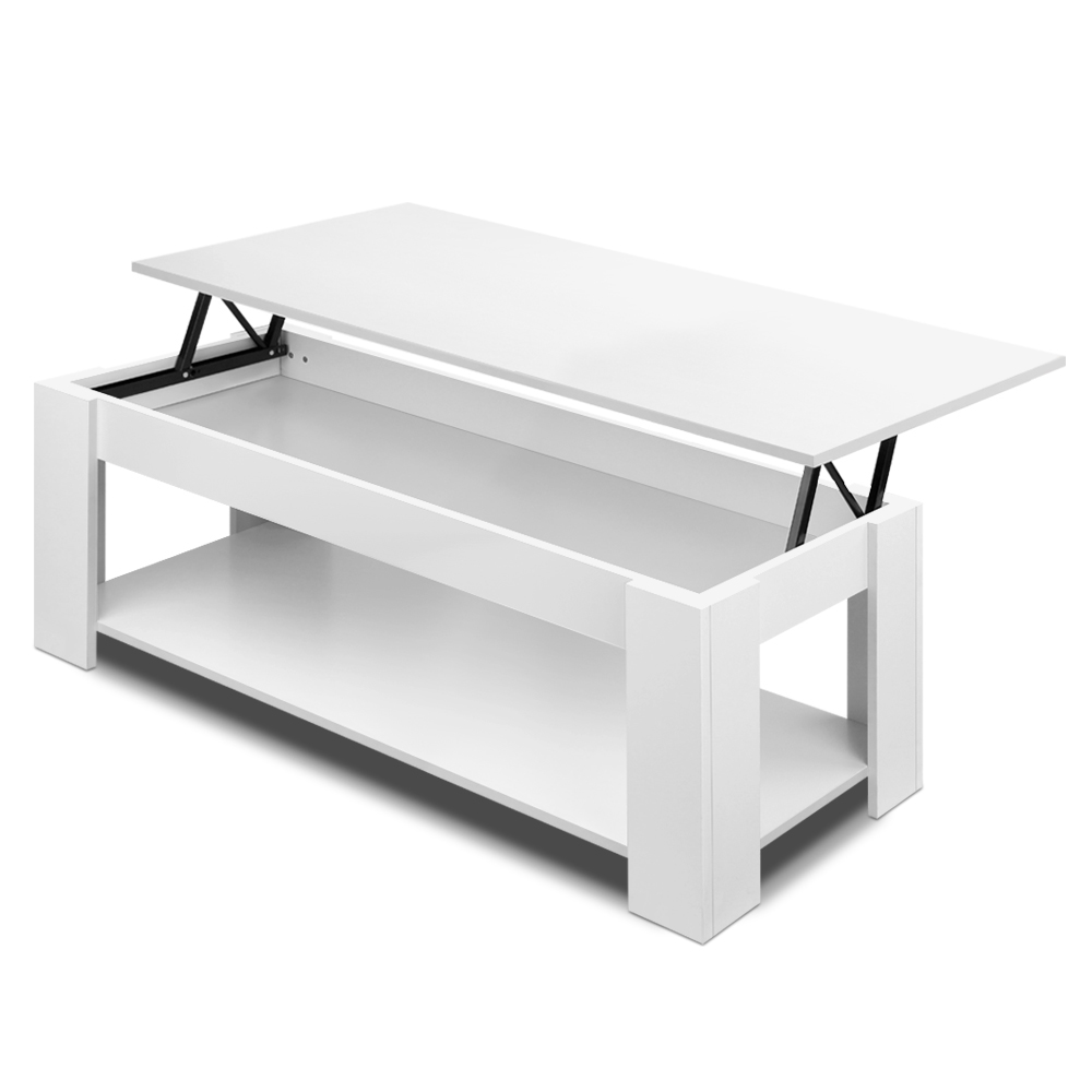 White Lift Up Coffee Table.Artiss Lift Up Top Mechanical Coffee Table White