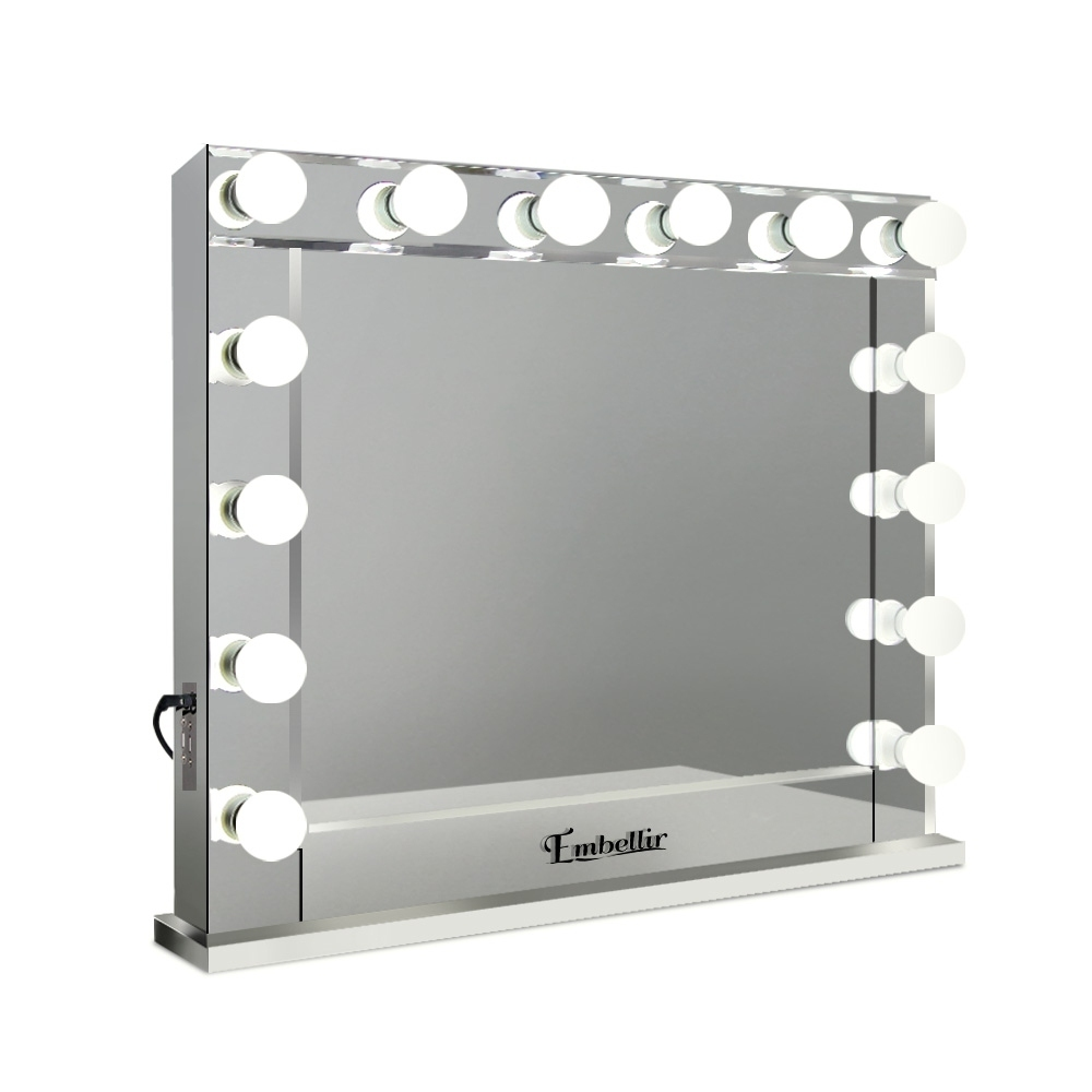 Embellir Make Up Mirror With Led Lights Silver Buy