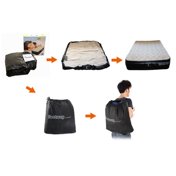 Blow Up Inflatable Mattress W Built In Pump 2 Sizes Buy