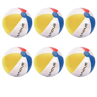 Pack of 6 Inflatique Inflatable Beach Balls - 35cm