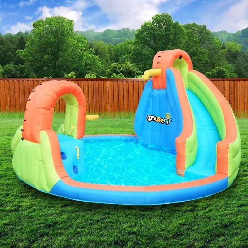 Inflatable Slide Where To Buy: Amuseair Inflatable Water Slide Castle Pool Alpha