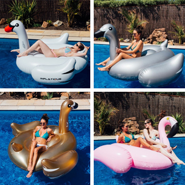 Giant Inflatable Ride On Pool Toy Flamingo Or Swan