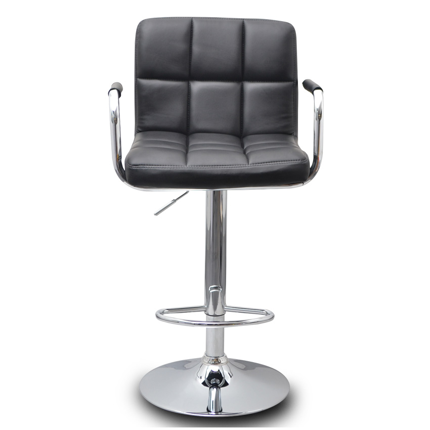 2x Grid PU Leather Bar Stool w Armrests in Black Buy  : 04010BK 01 from www.mydeal.com.au size 850 x 850 jpeg 73kB