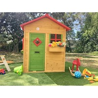 Bertie Wooden Kid's Cubby House Light Yellow 1.49m