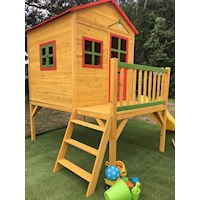 Charlie Wood Kids Cubby House Playhouse with Slide