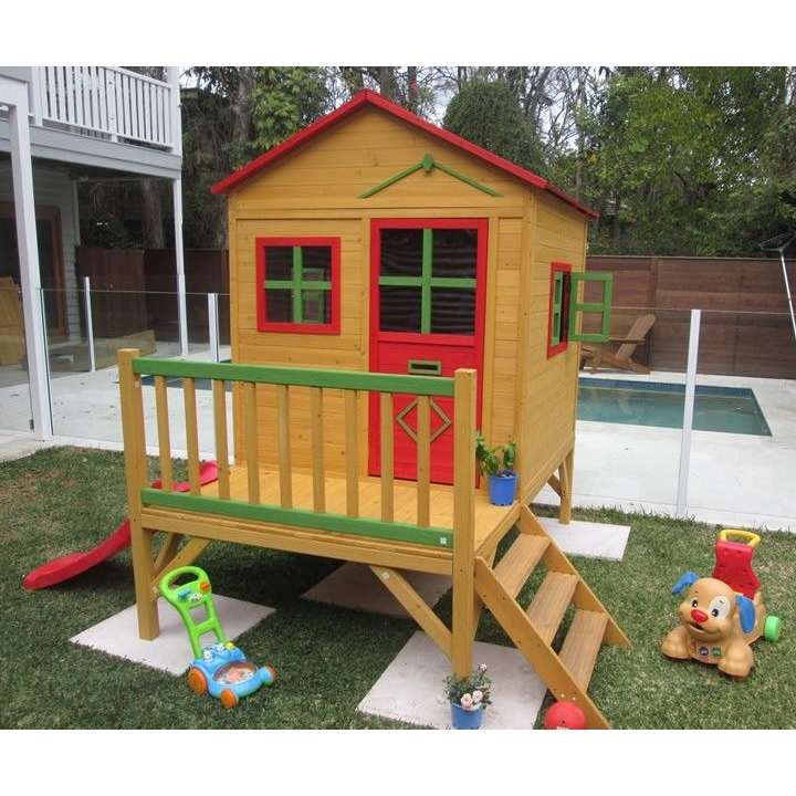 Charlie Wood Kids Cubby House Playhouse With Slide Buy Cubby Houses - Cubby house