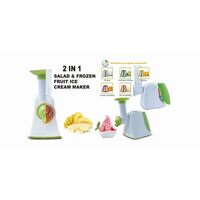 2 in 1 Salad Slicer Frozen Fruit Ice Cream Maker