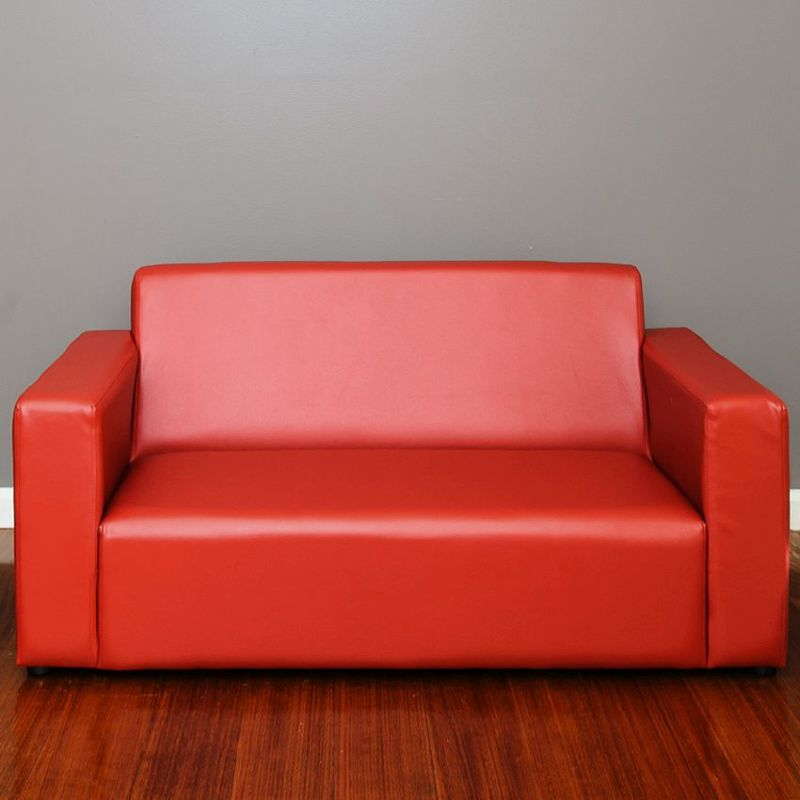 Kids Pvc Leather 2 Seater Sofa Couch In Red Buy Kids Sofas