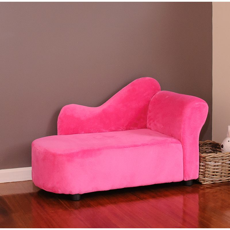 Kids Princess Fabric Sofa Chaise Lounge In Hot Pink Buy