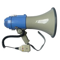 PA System Loud Speaker Recording Megaphone 25W Grey