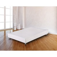 Double Size Fabric Ensemble Bed Base in White