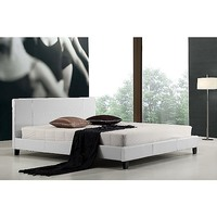Palermo King Size PU Leather Bed Frame in White
