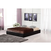 Double Size PU Leather Ensemble Bed Base in Black