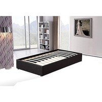 Single Size PU Leather Ensemble Bed Base in Black