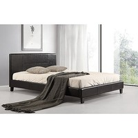 Palermo Queen Size PU Leather Bed Frame in Black