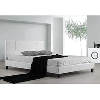 Palermo Queen Size PU Leather Bed Frame in White