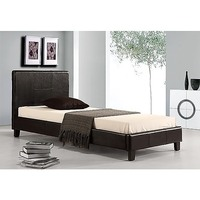 Palermo Single Size PU Leather Bed Frame in Black