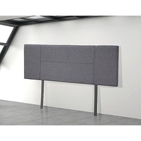 Double Size Fabric Upholstered Headboard in Grey