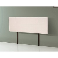 Queen Size Fabric Upholstered Headboard in Beige