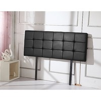 Deluxe Double Size PU Leather Headboard in Black