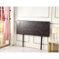 Double Size PU Leather Bed Headboard in Brown