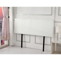 Double Size Smooth PU Leather Headboard in White