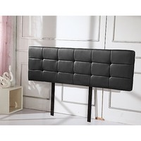 King Size Deluxe PU Leather Headboard in Black