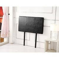 Single Size PU Leather Bed Headboard in Black