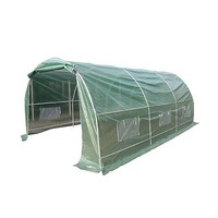 Garden Steel Frame Greenhouse w/ Plastic Cover 5x3m