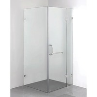 Square Frameless Glass Shower Screen 1000x1000mm