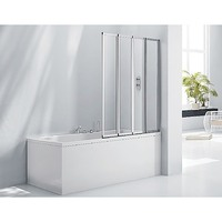 4 Panel Fold Glass Bath Shower Screen 1000 x 1450mm