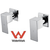Square Shower & Bath Mixer Tap Set in Chrome