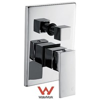 Thick Handle Shower Mixer Tap & Diverter Set Chrome