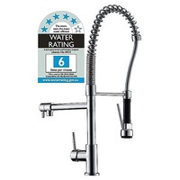 Pull Out Kitchen Mixer Tap w/ 2 Heads in Chrome