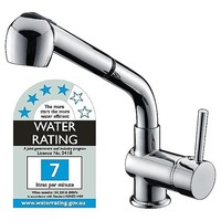Kitchen Basin Mixer Tap with Pull-Out Spray 289mm