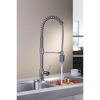 LED Spring Pull-Out Spray Kitchen Mixer Tap Chrome
