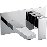 Rectanglar Basin or Bath Spout w/ Mixer Tap Chrome