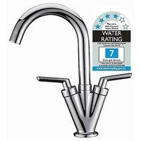 Elegant Kitchen Double Handle Mixer Tap in Chrome