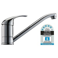 Long Neck Kitchen Mixer Tap & Faucet Chrome 129mm