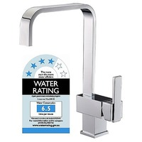 Angled Gooseneck Sink Mixer Tap Faucet in Chrome