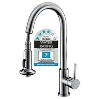 Kitchen Sink Mixer Tap & Faucet with Pull-Out Spray
