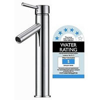 Kitchen Tall Sink Mixer Tap & Faucet Chrome 184mm